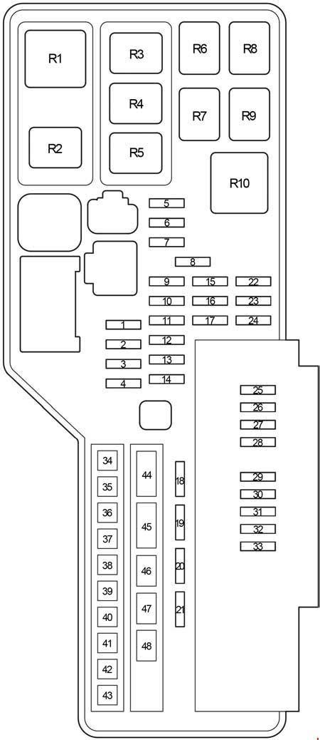 toyota aurion   fuse box diagram auto genius