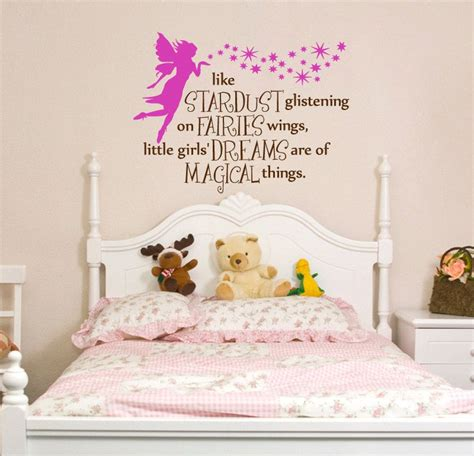 Bedroom Phrases by Phrase Nursery Bedroom Wall Decal Fairies And