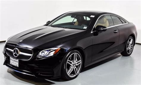 Cpo vehicles are used vehicles and are not new vehicles. Certified Pre-Owned 2018 Mercedes-Benz E 400 4MATIC Coupe | Black U17157