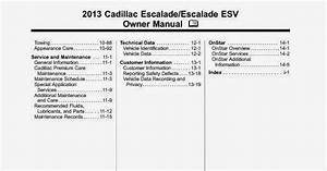Wiring Diagrams And Free Manual Ebooks  2013 Cadillac Escalade Esv Owner Manual
