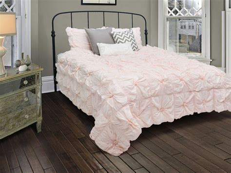 light pink sheets queen new rizzy home plush dreams light pink comforter bed set