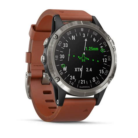 delta aviator   brown leather band