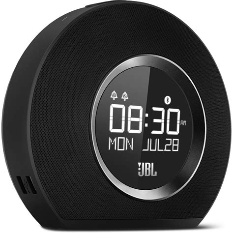 Round Tabletop by Jbl Horizon Clock Radio Black Jblhorizonblkam B Amp H Photo