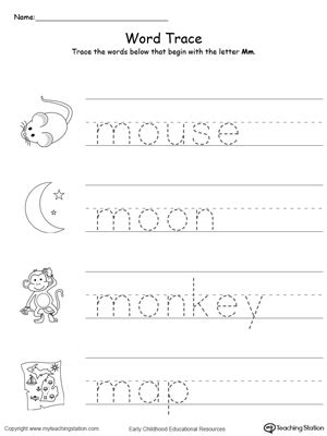 words that start with a for preschool letter m printable alphabet flash cards for preschoolers 958