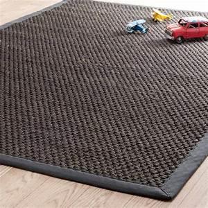 Tapis bastide gris anthracite 140x200 maisons du monde for Tapis gris anthracite