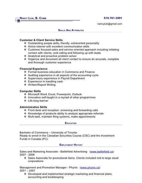 Resume By Phone Toronto by Cibc Resume June