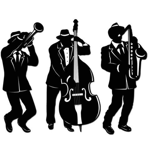 jazz trio silhouettes party  lewis elegant party