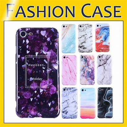 Phone Case Marble Shell Chrome Soft Cases