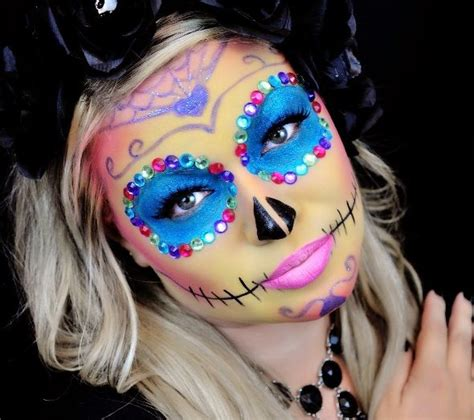 maquillage squelette mexicain simple