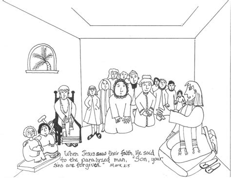 Kleurplaat Bethesda by Coloring Pages Of And Heal A Lame