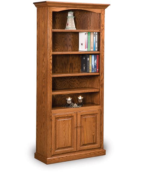 Hoosier Heritage Bookcase With Doors  Amish Direct Furniture