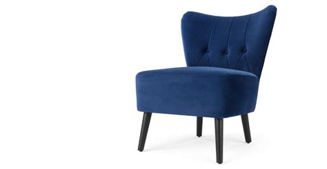 accent chair electric blue velvet made
