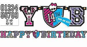image monster high party city letter bannerpng With party city banner letters