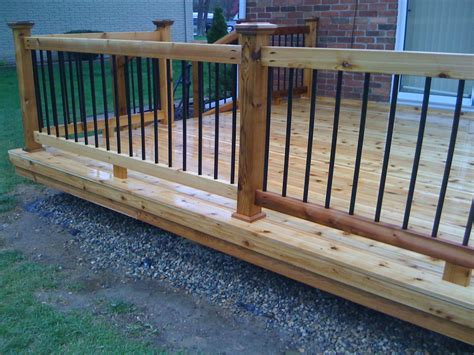Porch Railing Wood - metal balusters for deck railings autumnwoodconstruction