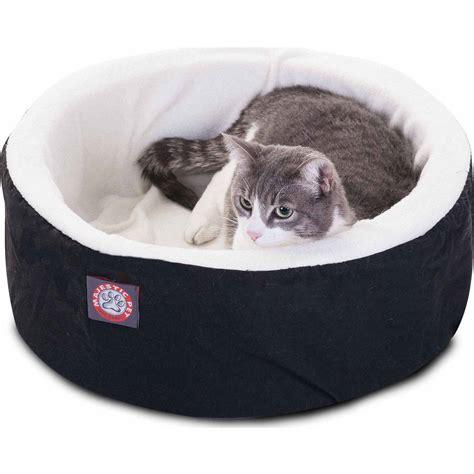 cat beds petmaker cozy kitty tent igloo plush enclosed cat bed walmart com