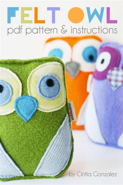felt owl  pattern instructions  poppet