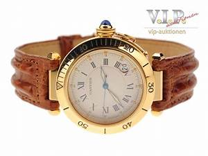 CARTIER PASHA MONTRE UHR HERRENUHR 18K750er GOLD