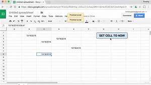 How Can I Create A Button In Google Sheets That Sets Cells To Today U0026 39 S Date And Time