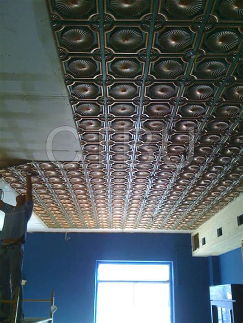 plastic glue up drop in decorative ceiling tiles