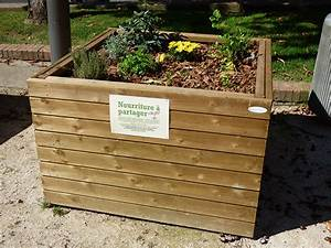 Potager En Bac : bac potager palox 120 x 120 cm hauteur 80 cm sud ~ Preciouscoupons.com Idées de Décoration
