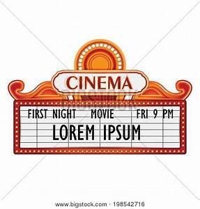 Cinema images illustrations vectors cinema stock for Theatre sign clipart