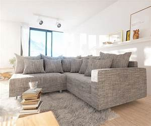 Couchbezug Für Eckcouch : eckcouch clovis hellgrau strukturstoff mit armlehne ~ Watch28wear.com Haus und Dekorationen