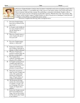 psychology temple grandin  guide  developmental