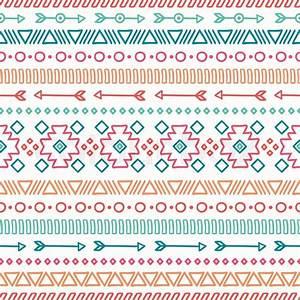 Hand drawn geometric ethnic seamless pattern Wrapping