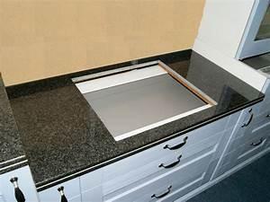 Granit Arbeitsplatte Küche Preis : 120 cm granit k chen arbeitsplatte schwarz f r kochfeld 75 ~ Michelbontemps.com Haus und Dekorationen