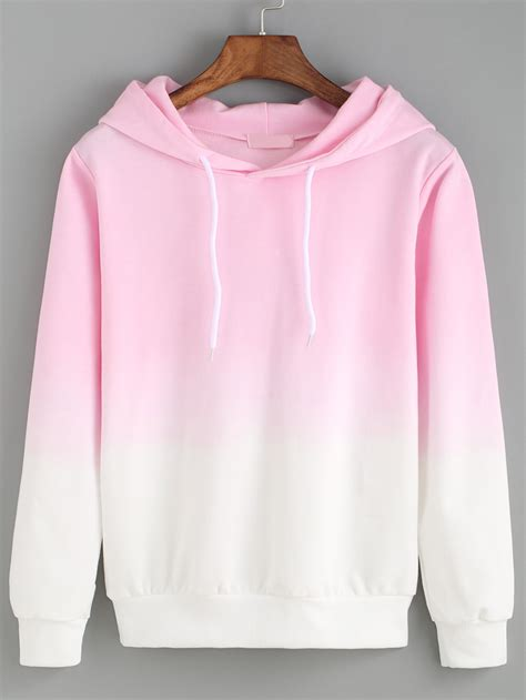 sweater with hoodie sweat shirt avec capuche décontracté ombre romwe