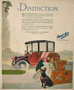 1917 Baker Rauch  U0026 Lang Electric Car Ad  Vintage Car Ads