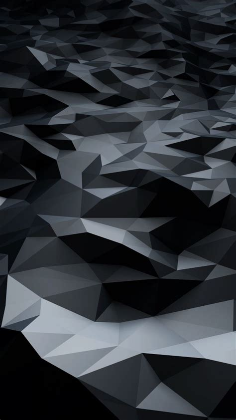 Hd Dark Abstract Wallpapers Download Abstract Black Low Poly Hd Wallpaper For Galaxy S4 Mini Hdwallpapers Net