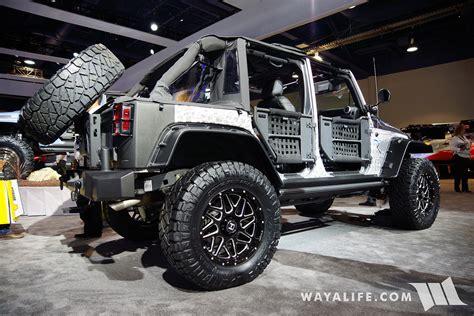 sema jeep 2016 2016 sema lund silver jeep jk wrangler unlimited