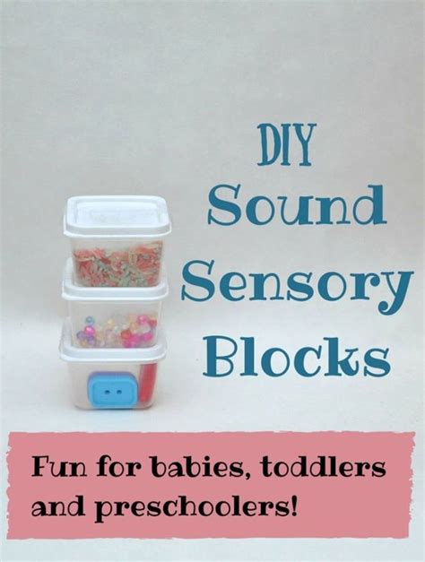 super easy diy sensory blocks  great fine motor sensory