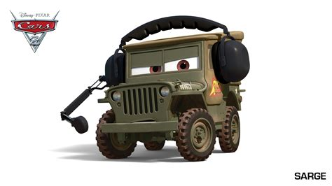 Cars 2 Sarge by Cars 2 Sarge Picture Of A Pixer Sarge Car