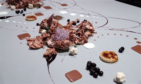 alinea desserte cuisine impressionism artistic food