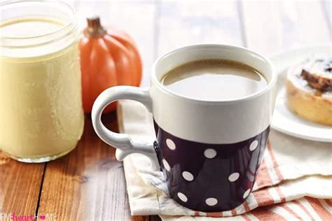 The base of pumpkin spice coffee creamer is obviously cream. All-Natural Pumpkin Spice Coffee Creamer • FIVEheartHOME