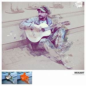 Mixart sketch painting photoshop action by sodasong graphicriver for Envato graphicriver