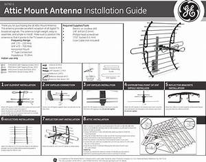 Ge Appliances 34792 Attic Mount Antenna Owners Manual