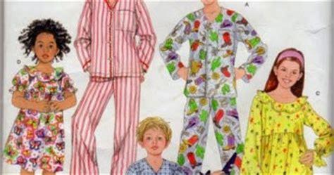 hobby pola baju piyama anak  pola baju tidur anak