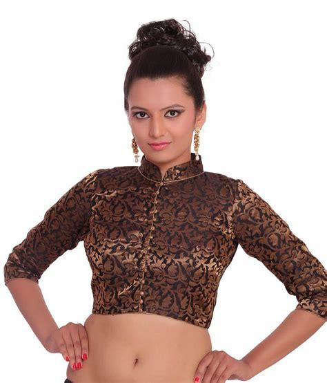 high neck blouse inblue fashions black brocade high neck blouse buy