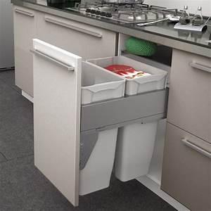 Poubelle De Tri Cuisine : poubelle coulissante 2 bacs 70 litres ~ Dailycaller-alerts.com Idées de Décoration