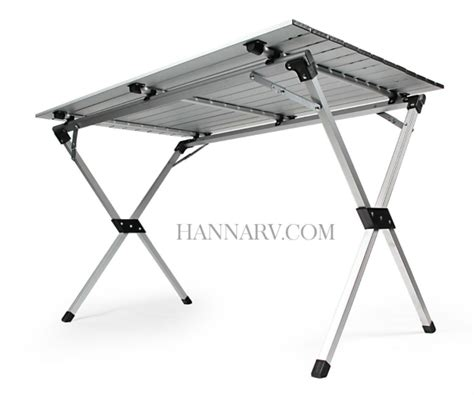 roll up aluminium table camco 51892 aluminum roll up table with bag hanna