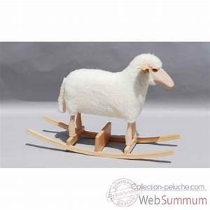 Siege A Bascule : mouton bascule blanc si ge 48 cm meier de peluches histoire d 39 ours ~ Teatrodelosmanantiales.com Idées de Décoration