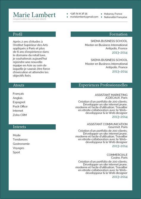 Présentation De Cv by Faire Un Cv Percutant