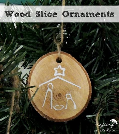 craftaholics anonymous 174 diy wood slice ornaments