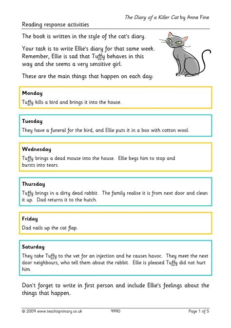 teachit primary reading comprehension teaching resources