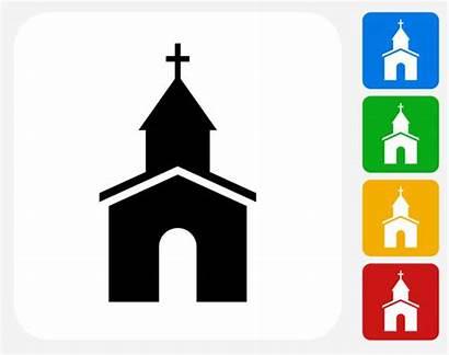 Church Chapel Graphic Icon Clip Flat Illustrations