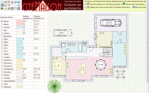 plan architecte en ligne plan architecture maison en ligne