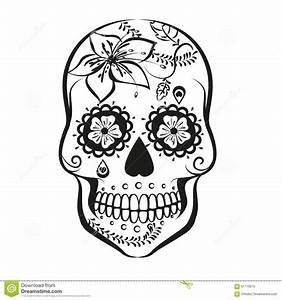 Sugar Skull Stock Vector - Image: 61716979
